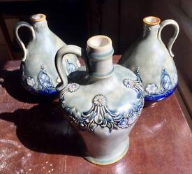 Royal Doulton - Pair of Vases plus 1 Vase - Maud Bowden 1902/22 - Highest Bidder