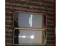 2 iphone 5cs spares or repairs