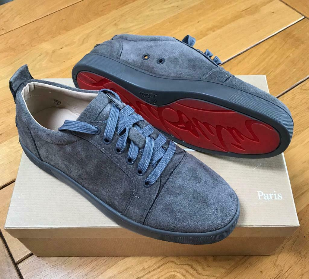 Christian Louboutin Men S Grey Suede Trainers Size 8 Brand New In Eckington South Yorkshire Gumtree