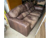 DFS 3 seater leather sofa (£2000 new)