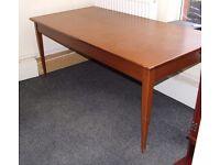 Large dark wood desk/table