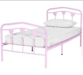 Brand new pink single bed frame