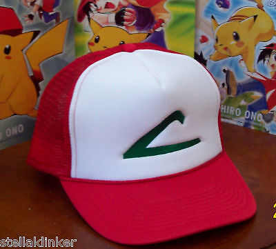POKEMON  Trainer Costume - Ash Ketchum Hat -  Halloween Costume/ Cosplay  USA  - Pokemon Ash Halloween Costumes