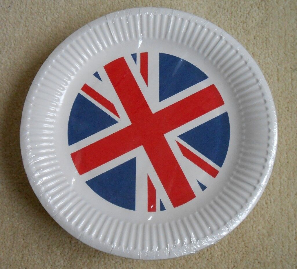 NEW 50 Pack of Union Jack Paper Plates UK Britain Royal Wedding & NEW 50 Pack of Union Jack Paper Plates UK Britain Royal Wedding | in ...
