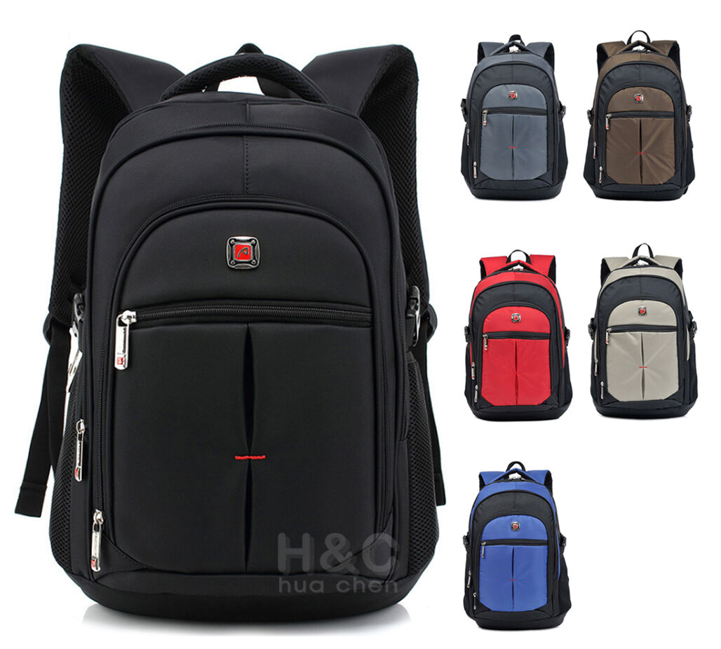 Men's Travel Rucksack Notebook Laptop Swiss Hiking Notebook Backpack Philosophy Bag