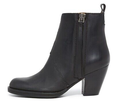 $550 new ACNE Studios 39/9 Pistol Booties Ankle Leather Iconic BOOTS Black