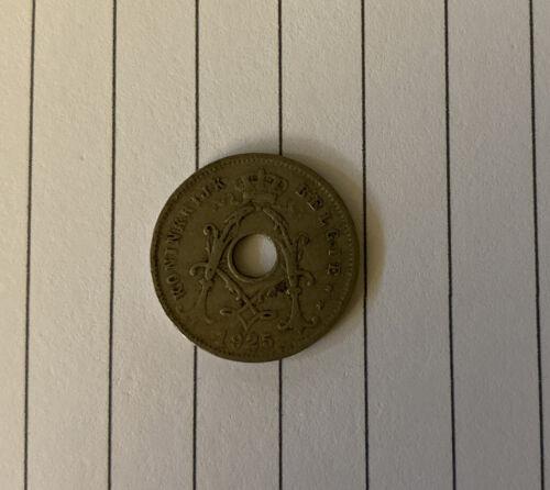 1925 Belgium Koninkrijk Belgie 5 Cen Coin - $4.99