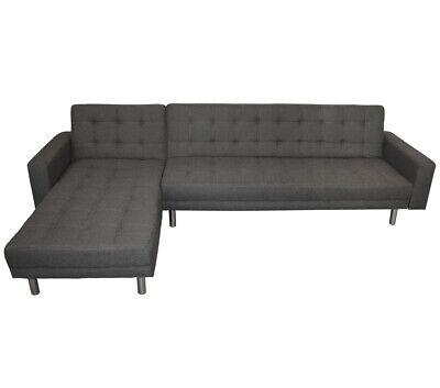 Wohnzimmer Moderne Schlafsofa (KMH®  Schlafsofa Ecksofa grau Eckcouch Wohnzimmercouch Sofa Couch Wohnzimmersofa)