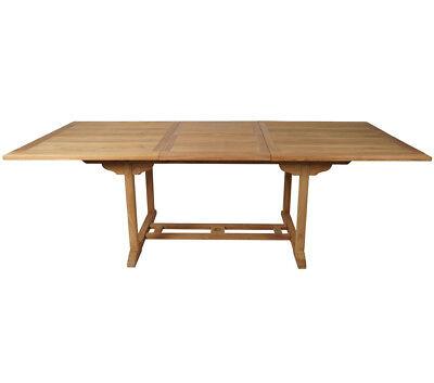 KMH® Teak Gartentisch ausziehbar 170 - 230 cm Esstisch Tisch Holztisch Holz