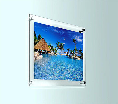 """PHOTO FRAME PICTURE WALL ART DISPLAY GRAPHIC HOLDER 10"""" X 8"""" ACRYLIC WALL MOUNT for sale  Shipping to Canada"""