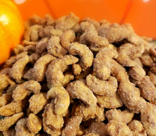 Cinnamon Sugar Cashews (Praline Cashews, Candied Glazed Nuts, Christmas Gifts)