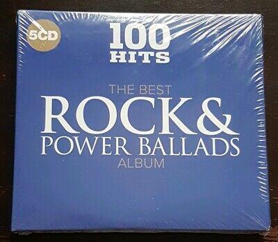 100 Hits - The Best Rock & Power Ballads - CD 5 Disc Alum - New &