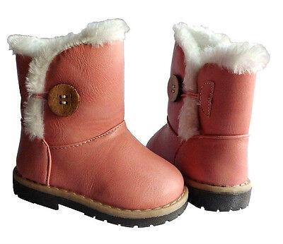 Kinder Stiefel Baby Schuhe Stiefelletten Boots Mädchen kuschelig warm