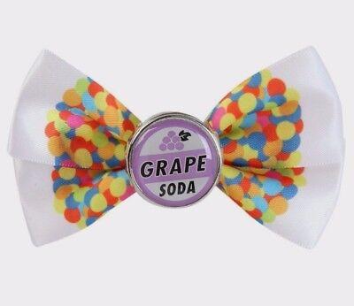 Disney Pixar Film Up Ellie Trauben Soda Haarspange Fliege Kostüm Pin Cosplay Neu ()
