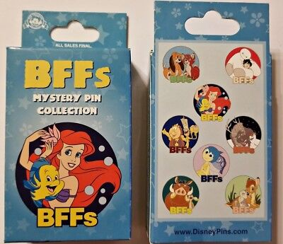 Disney Collectible Pin Pack BFFs Best Friends Mystery Box of 2 Pins Sealed