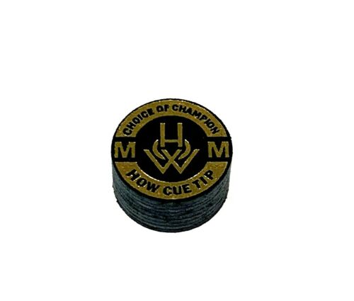 (1) HOW Pool Cue Tip - Choice Of Champion - (M = Medium) - ONE TIP