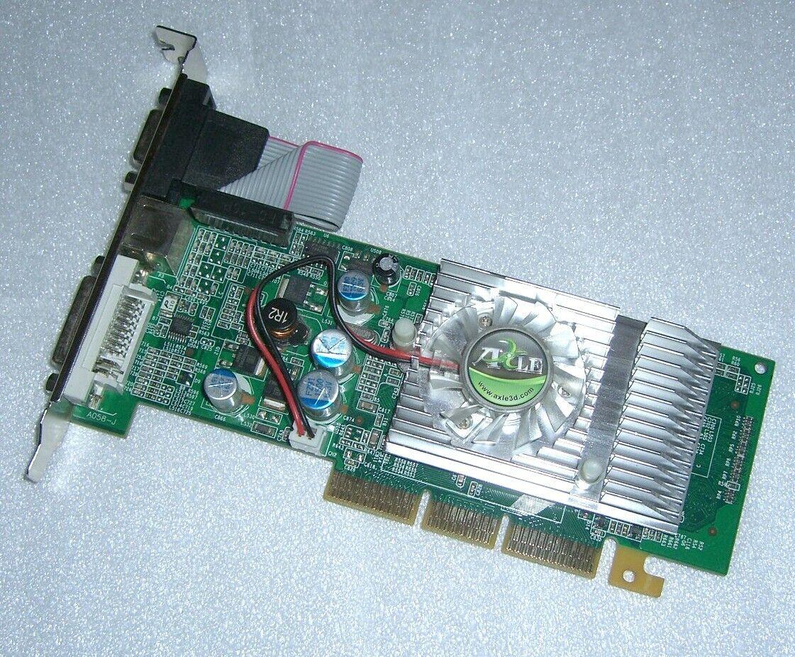 AXLE 3D nVidia GeForce 6200 512MB AGP Grafikkarte DVI VGA TVo LP DX9 AGP8X