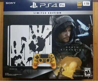 Sony PS4 Pro Video Game Console 1TB Death Stranding Limited Edition