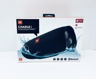JBL CHARGE3  Portable Bluetooth Speaker - Black (B)