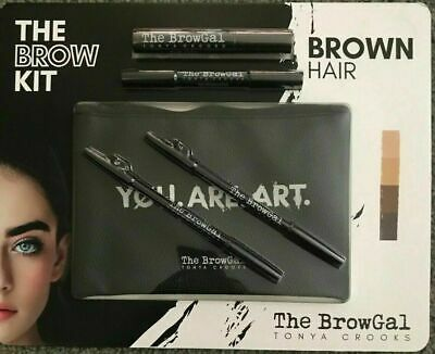 NIP The Brow Gal Eyebrow Styling Starter Kit Brown Hair Brown Shades - NEW