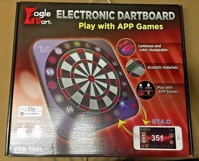Eagle Dart Blue Tooth 4.0 Luminous Electronic Soft Tip Dartboard w/FREE Shipping