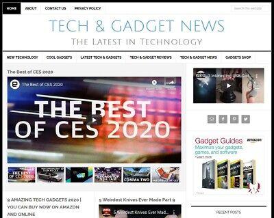 New Design Tech Gadget News Blog Website Business For Sale W Auto Content