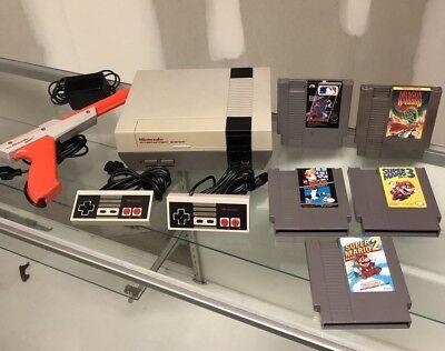 Nintendo Entertainment System NES Console Bundle Lot with 5 Games  Mario 1 2 3