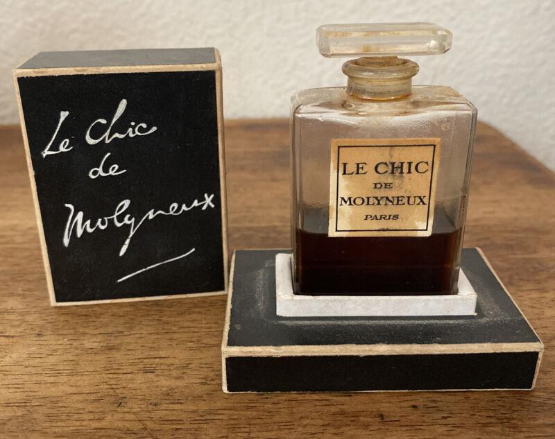Le Chic De Molyneux Paris 1930's-1940's Perfume Original Box!