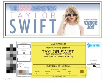 SELLING 2 x Taylor Swift A reserve Tickets Sydney Kensington Eastern Suburbs Preview