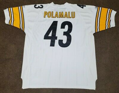 TROY POLAMALU #43 PITTSBURGH STEELERS AUTHENTIC AWAY FOOTBALL JERSEY SZ 56 NFL