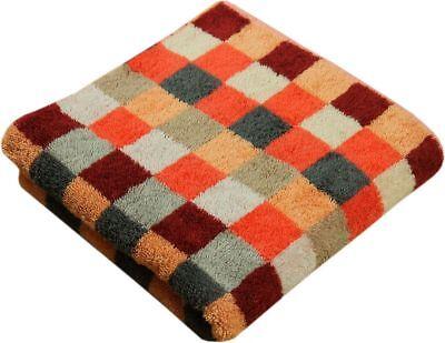 Cawö Handtücher Unique Karo orange Handtuch Duschtuch Gästetuch Waschhandschuh