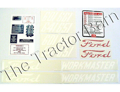 20 Piece Mylar Workmaster Decal Set Ford 601 Series 1958 - 1962 641 D-6015862