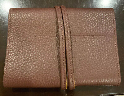 New Mark and Graham Leather Charger Roll Up Brown