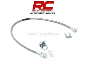 Jeep TJ YJ XJ Rough Country Stainless Steel Extended Rear Brake Line [89703]