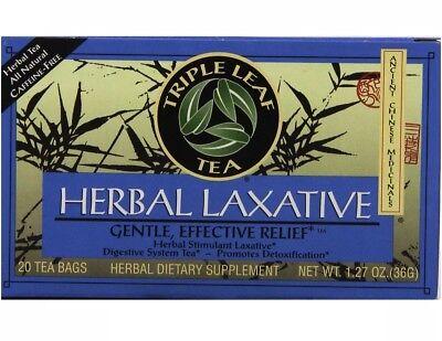 Triple Leaf Tea Herbal Laxative Tea Caffeine Free 20 Tea - Caffeine Free Herbal Tea