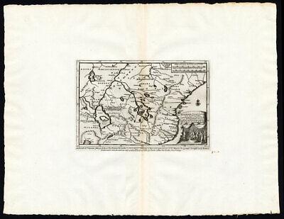 Rare Antique Map-ETHIOPIA-ORIGIN OF THE NILE-LAKE ZAIRE-ZASLAN-Van der Aa-1725