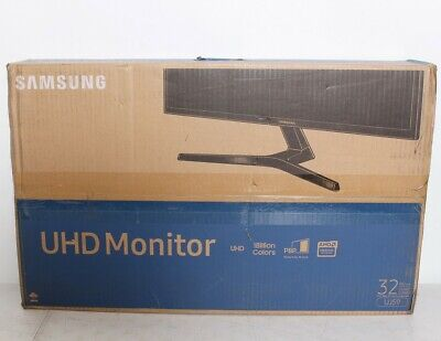 "Samsung 32"" UJ59 Series LU32J590UQNXZA LED 4K UHD FreeSync Monitor CLEAN SCREEN"