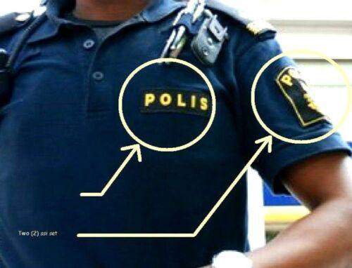 SVERIGE SWEDEN SWEDISH POLISEN POLIS PIKETEN PIKETENHETEN瑞典警察 velkrö 2-INSIGNIA