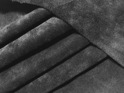 Black Suede Split Leather Hide 2-3 oz Super Soft