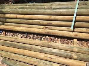 100ml 2.4m treated pine rural logs. Collingwood Park Ipswich City Preview