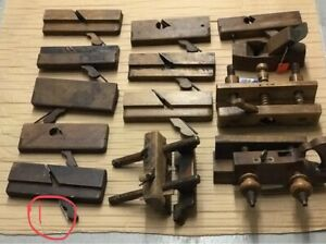 31 individual Antique wood planers & other tools