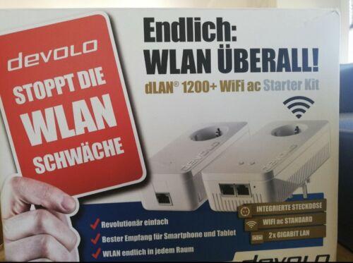 devolo dLAN 1200+ WiFi WLAN Starter Kit, Internet über das Stromnetz