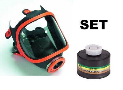 !!! SET !!! Panorama Vollmaske Atemschutzmaske inkl FILTER A2B2E2K2