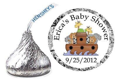 216 NOAH'S ARK BABY SHOWER FAVORS HERSHEY KISS LABELS - Noahs Ark Baby Shower
