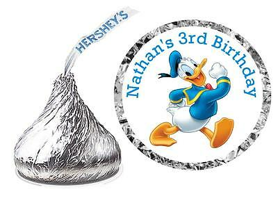 216 DONALD DUCK BIRTHDAY PARTY FAVORS HERSHEY KISSES LABELS