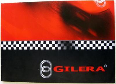 GILERA Range Manuel Poggiali Original Motorcycle Sales Brochure Eng/Italian 2002