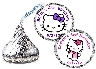 216 HELLO KITTY BIRTHDAY PARTY FAVORS HERSHEY KISS KISSES LABELS - Kitty Party