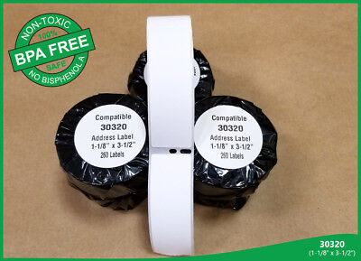 Dymo Compatible Labels Twin Turbo 450 White 2 Rolls Of 30320 Address Shipping