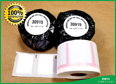 Dymo Labelwriter 30915 Postage Stamp Labels 1-58 X 1-14 White Adhesive 2 Rolls