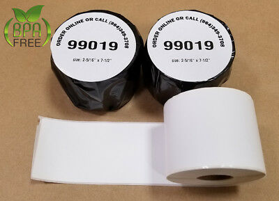Internet Postage Labels Dymo-compatible 5 Rolls 99019 1-part Permanent Adhesive